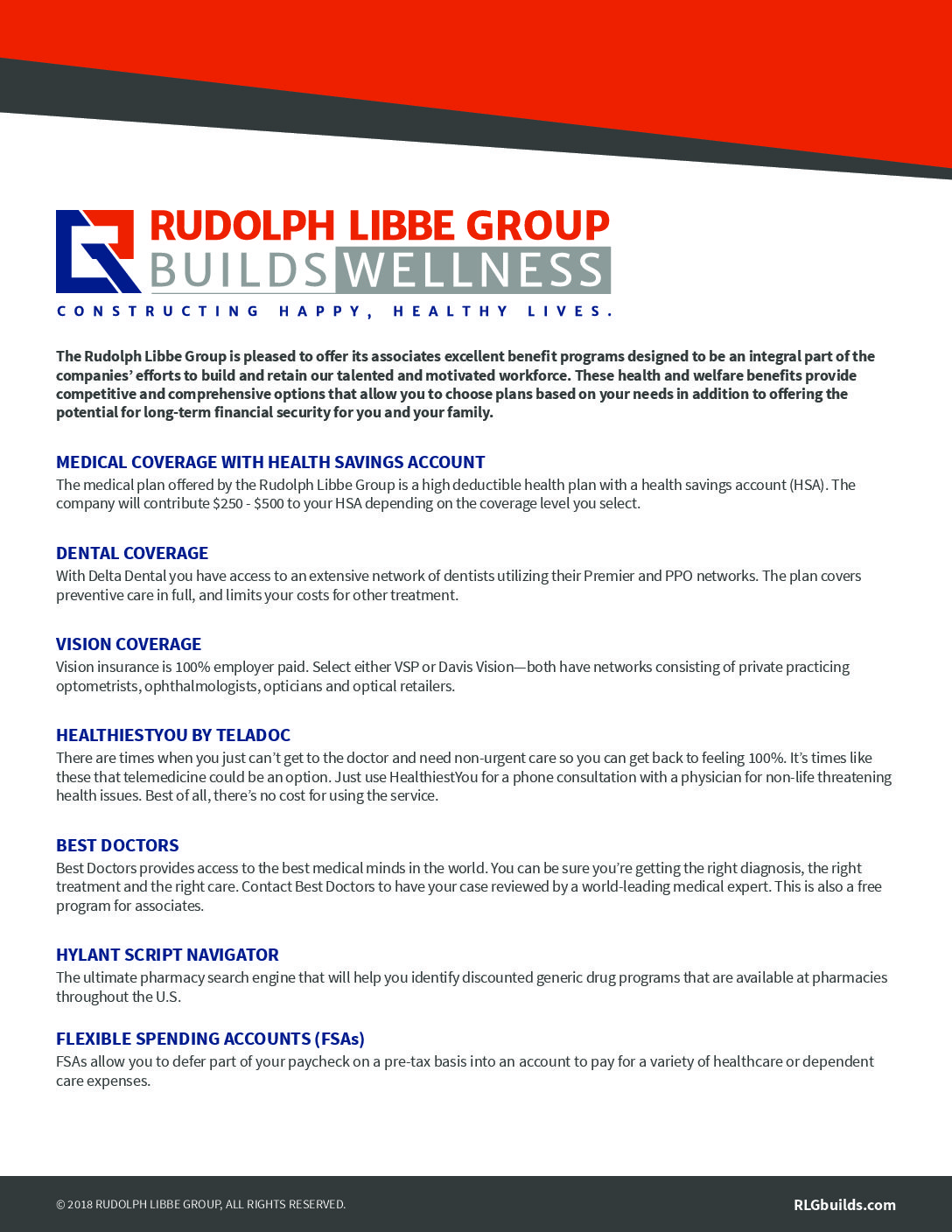 Rudolph Libbe Group Benefits Summary