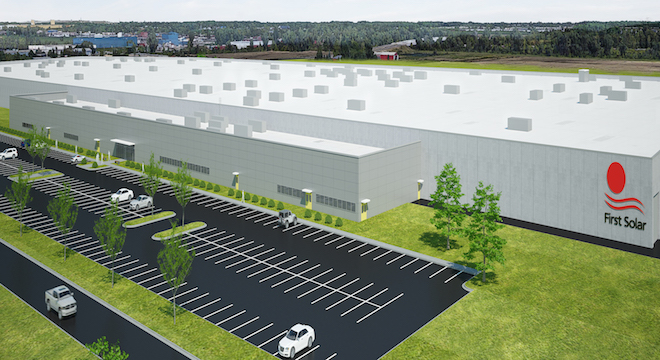 rendering of First Solar's new plant