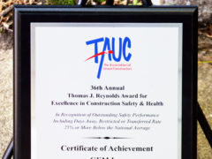 GEM Inc. receives TAUC Award for Excellence in Construction Safety